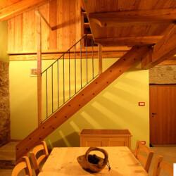 Cucina appartamento in affitto in baita Piemonte