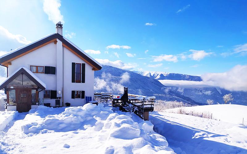 Baita Col Martorel affitto montagna Veneto inverno