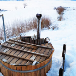Baita piscina affitto Veneto inverno