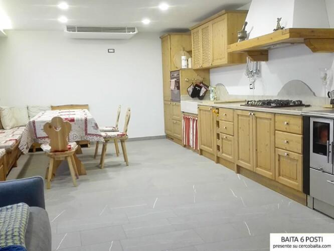 affitto baita Lagorai cucina