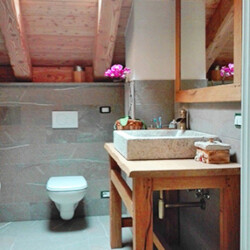 affitto baita Val Calamento bagno