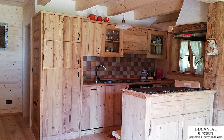 affitto chalet Bucaneve Tarvisio cucina