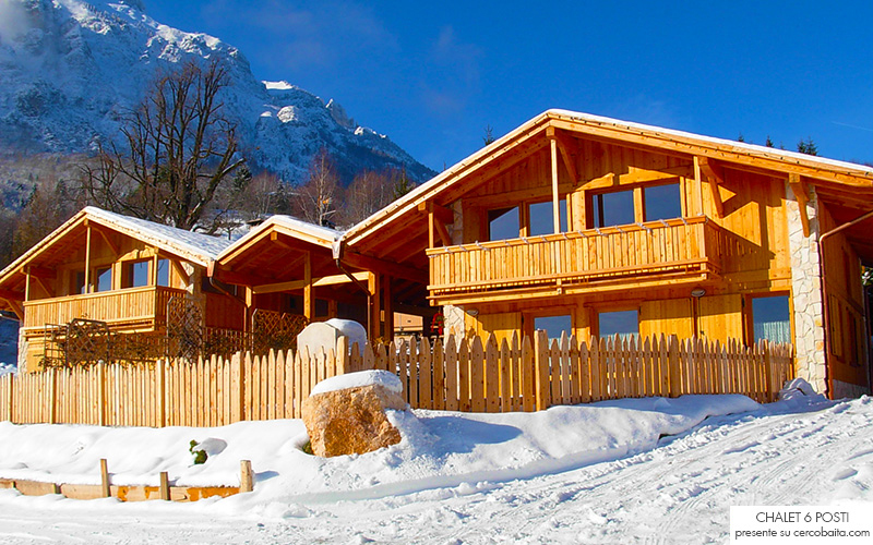 chalet in affitto in legno Trentino