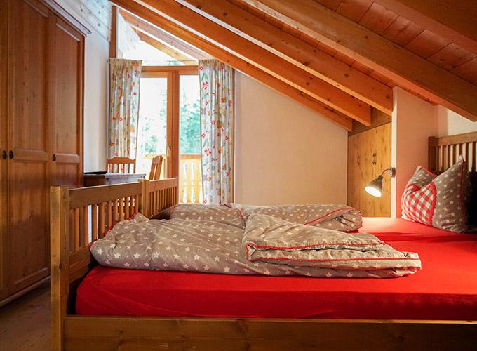 baita in affitto vacanza camera letto