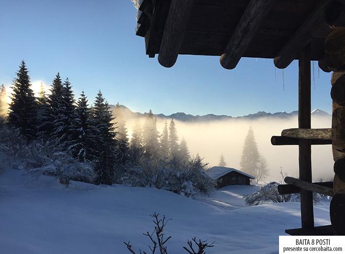 inverno montagna baita in affitto Trentino per vacanze